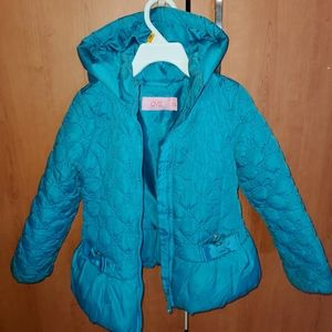 Toddler girl quilted lightweight jacket